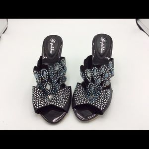 🎉Women's Jeweled Sandals With Heel Size 9